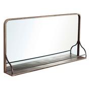 Espejo Estantería de Pared en Hierro 12,5 x 90 x 45 cm