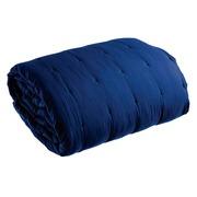 Colcha en Tejido Microfibra Azul Marino