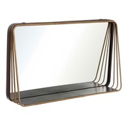 Espejo Pared Hierro Negro Oro 13 x 70 x 40 cm
