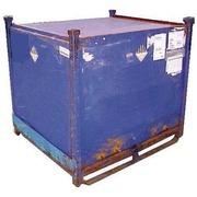 Contenedor Usado de Metal Azul Apilable 121 x 131 Ref.R064