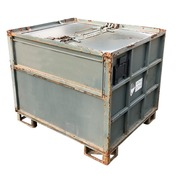 Contenedor Apilable de Metal Gris 100 x 120 Usado Ref.R082