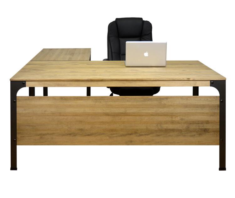 Mesa Oficina Industrial Bristol madera y hierro con Ala