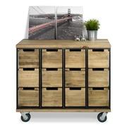 Mueble Aparador Bristol Vintage Industrial 12 Cajones