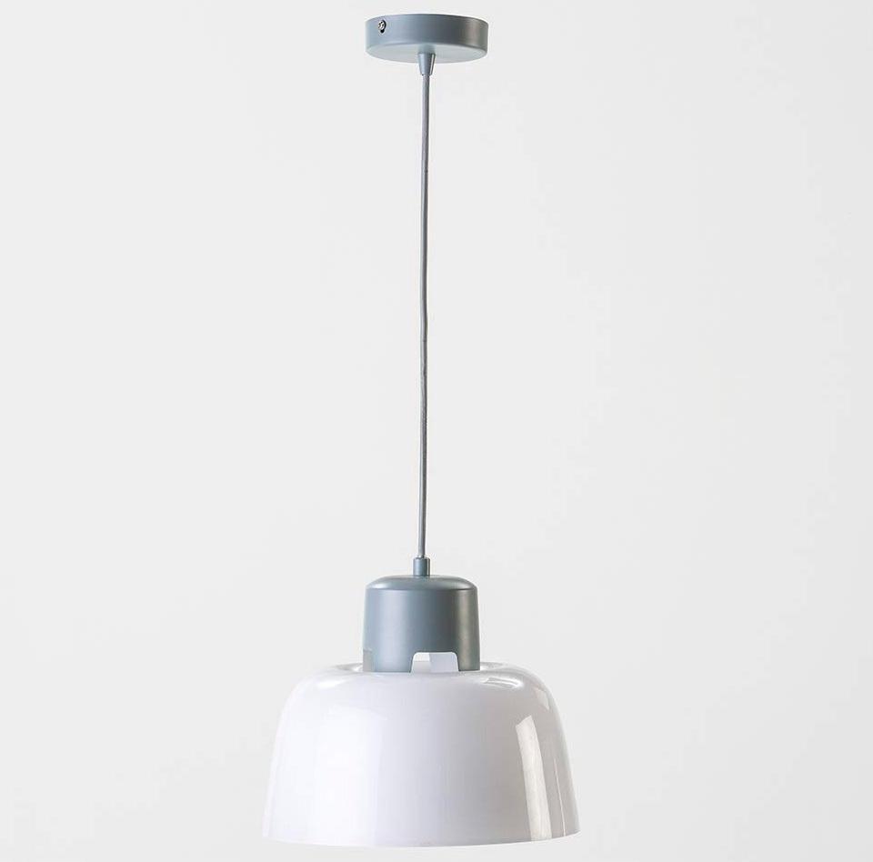 Lámpara Techo Cristal Laos Blanco Brillo Gris 26 x 26 x 21 cm