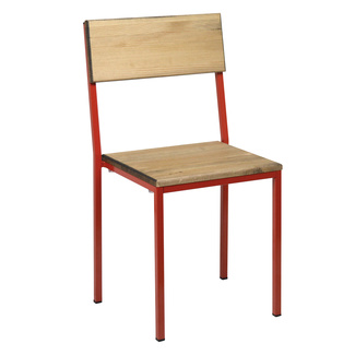 Silla Lucca Encajable Industrial Roja