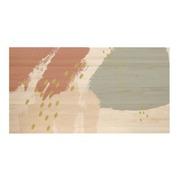 Cabecero Cama Natural Pinceladas Abstractas de Madera