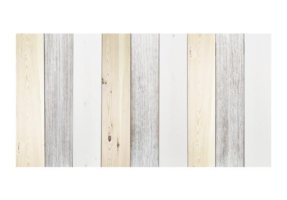 Cabecero de Madera Combinado Vintage Blanco y Natural