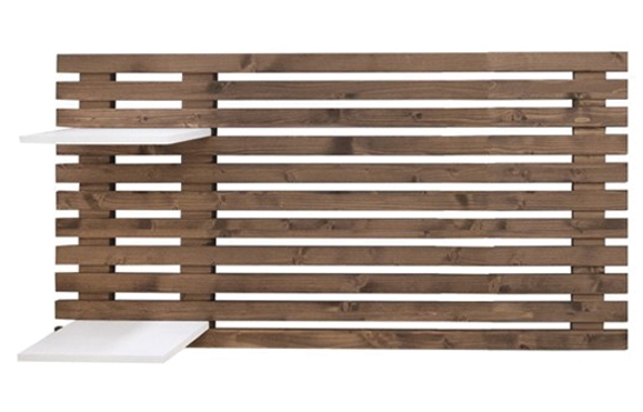 Cabecero Cama de madera de Abeto Envejecido Listones