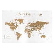 Corcho Mapa del Mundo Fondo Blanco Serigrafiado