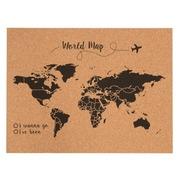 Corcho Mapa del Mundo Negro Serigrafiado