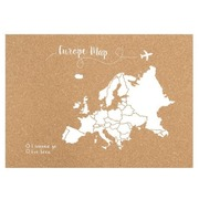 Corcho Mapa de Europa Blanco Serigrafiado