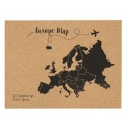 Corcho Mapa de Europa Negro Serigrafiado