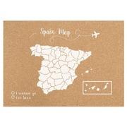 Corcho Mapa de España Serigrafiado Blanco