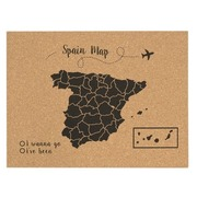 Corcho Mapa de España Negro Serigrafiado