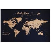 Corcho Mapa del Mundo Serigrafiado Fondo Negro