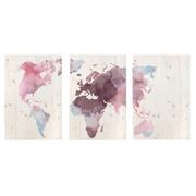 Cuadro Panorámico Mundo Rosa Impreso