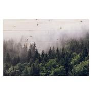 Cuadro Horizontal Bosque en Madera Natural