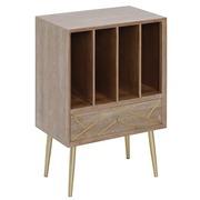 Mueble Auxiliar en Madera de Teka Patas de Hierro 32 x 50 x 72 cm
