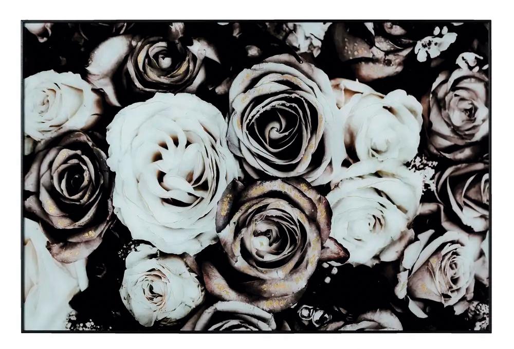 Cuadro Impresión Flores en Cristal Templado 3,7 x 120 x 80 cm