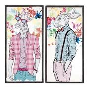 Cuadro Conejo Impreso en PVC 2 x 39 x 79 cm
