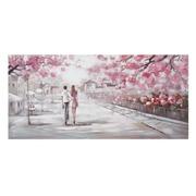 Pintura Pareja sobre Lienzo Blanco Rosa 3 x 150 x 70 cm
