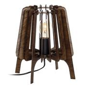 Lámpara de Mesa en DM Marrón 24 X 24 X 28 cm