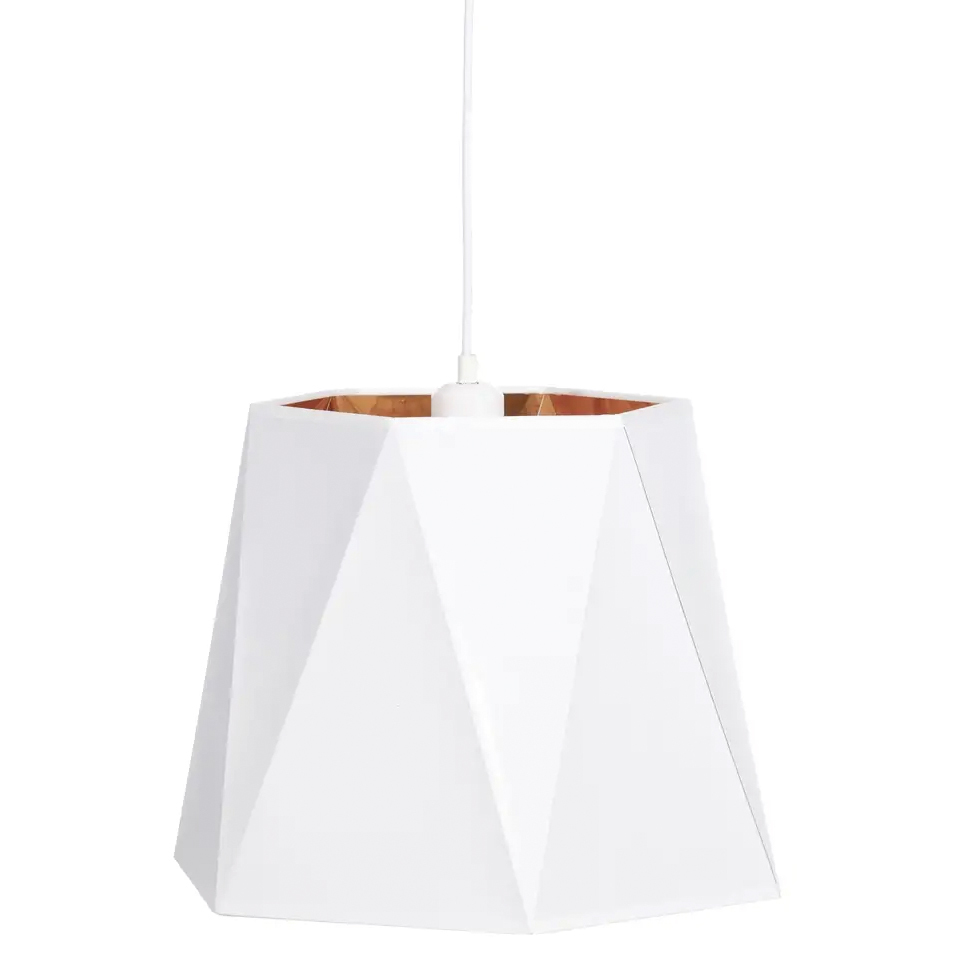 Lámpara de Techo Blanco Oro 40 x 40 x 30 cm