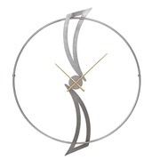 Reloj de Pared en Hierro Plateado 5 x 107 x 90 cm
