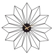 Reloj de Pared en Hierro Negro 6 x 61 x 61 cm