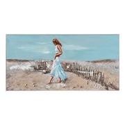 Pintura Playa sobre Lienzo con Marco 5 x 120 x 60 cm