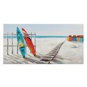 Pintura Sobre Lienzo Playa Azul 3,5 x 140 x 70 cm