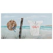 Pintura Playa Sombrero sobre Lienzo 3,5 x 140 x 70 cm