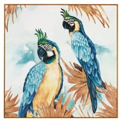 Cuadro Papagayo Impreso en Lienzo 4,2 x 114 x 114 cm