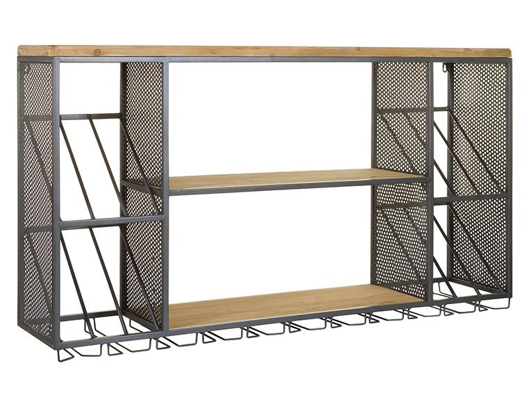 Estantería Botellero Industrial en Hierro 25 x 120 x 65 cm
