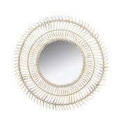 Espejo de Pared de Bambú 4 x 77 x 77 cm