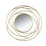 Espejo de Pared Dorado 3 x 100 x 100 cm