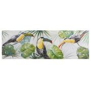 Cuadro Tucanes Panorámico en Oleo 4 x 150 x 50 cm