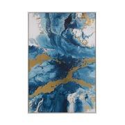 Cuadro Abstracto en Oleo Azul 4 x 80 x 120 cm