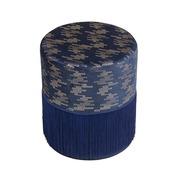 Pouf Deco Azul de Madera 34 x 34 x 40 cm