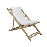 Silla Playa Bambú con Cojín de Poliéster 59 x 136 x 63 cm