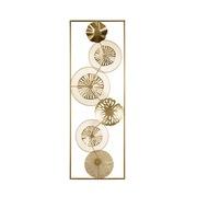 Deco Pared Círculos en Hierro Dorado 3 x 31 x 90 cm