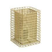 Lámpara Mesa de Aluminio Dorado 17 x 17 x 24 cm