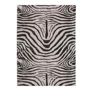 Alfombra Cebra de Algodón y Poliéster 200 x 300 cm