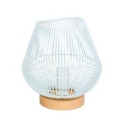 Lámpara de Mesa Base de Madera 24 x 22 x 24 cm