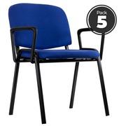 Pack 5 Sillas Ludus Azules con Brazos 62 x 70 x 78 cm