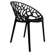 Silla de Diseño Origen Negra 60 x 60 x 80 cm