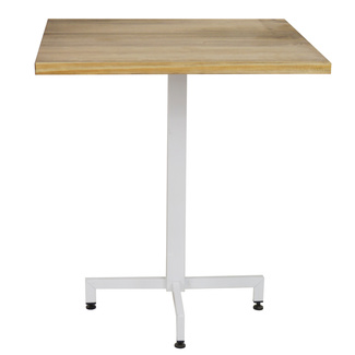 Mesa iCub Pie Central Blanco Tablero de Madera
