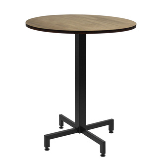 Mesa iCub Pie Central Negro Tablero de Madera