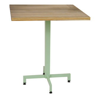 Mesa iCub Pie Central Verde Tablero de Madera