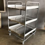 Jaula de Metal Usada con Ruedas para Cajas 100 x 100 x 165 cm